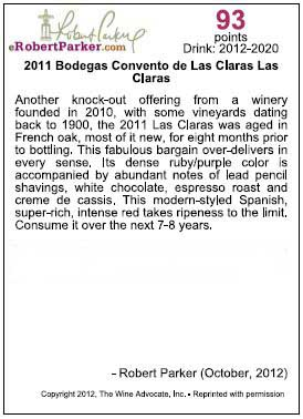 Our wine's rating
