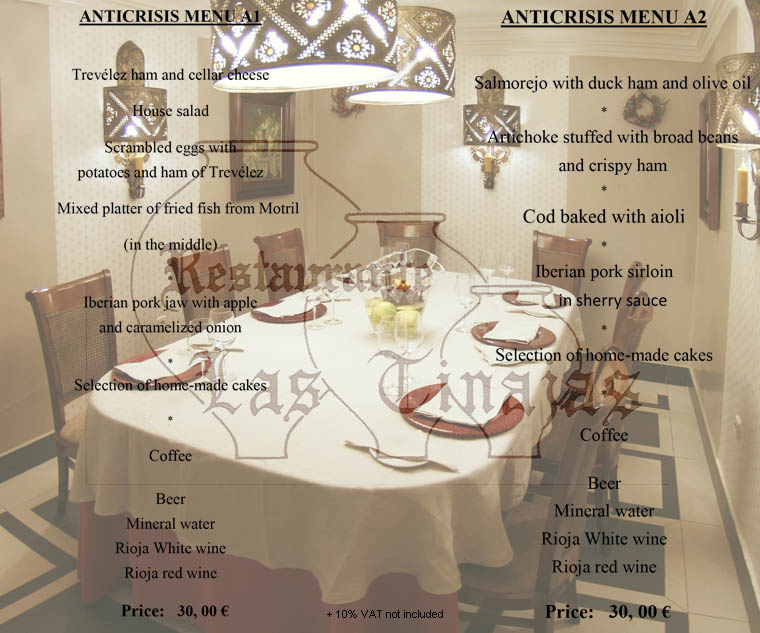 Our new anticrisis menus