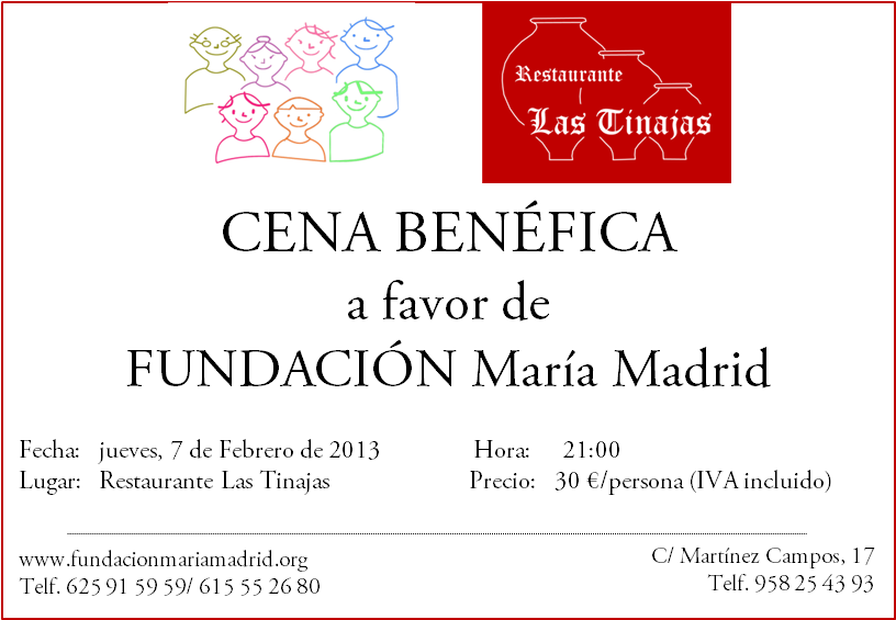 María Madrid Foundation's charity dinner